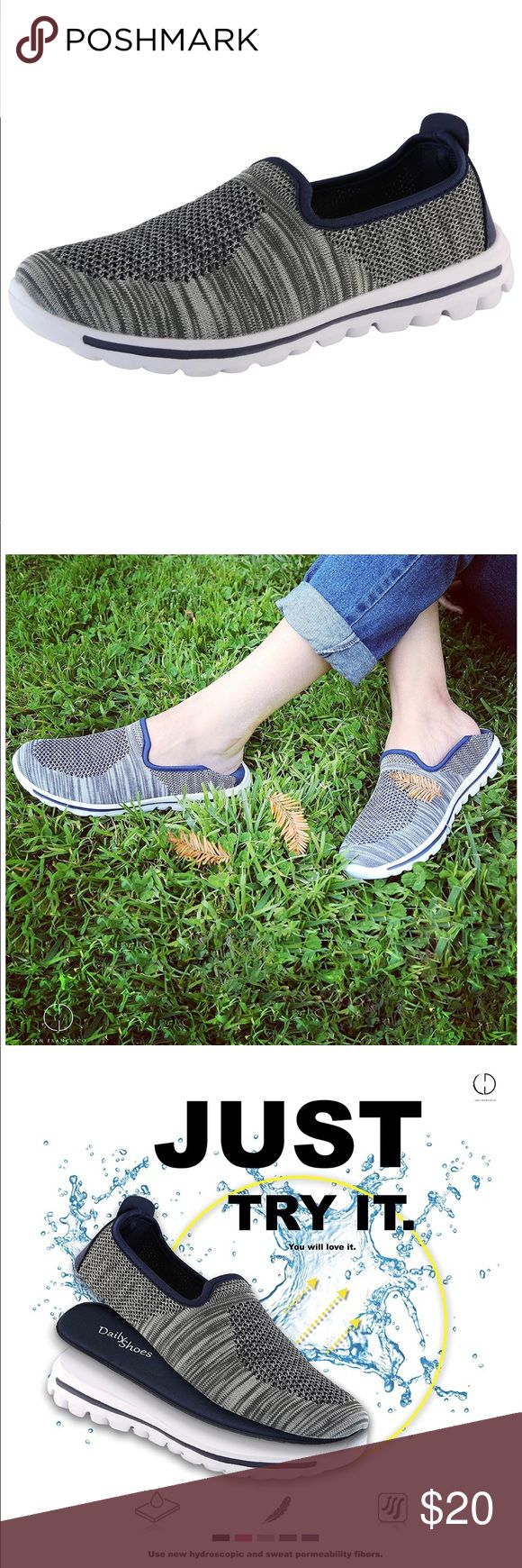 | DailyShoes | Women's Sneakers • Women's Sneakers Fit Mesh Slip-On Style Walking Shoes With Memory Foam Insoles- Breathable Mesh - Durable Soles - Reliable Traction - Perfect For Walks and JOGS • Fabric & Synthetic / Rubber Sole  •New in Box  • Original Price $25.00 DailyShoes Shoes Sneakers