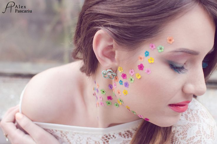 Flowers beauty makeup