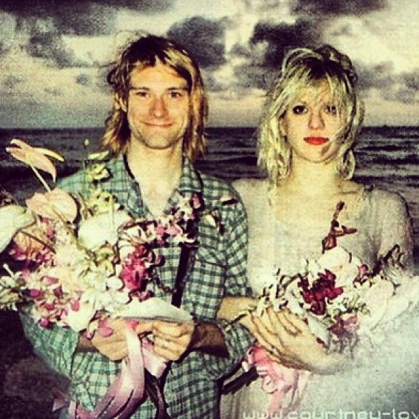 KURT COBAIN & COURTNEY LOVE.