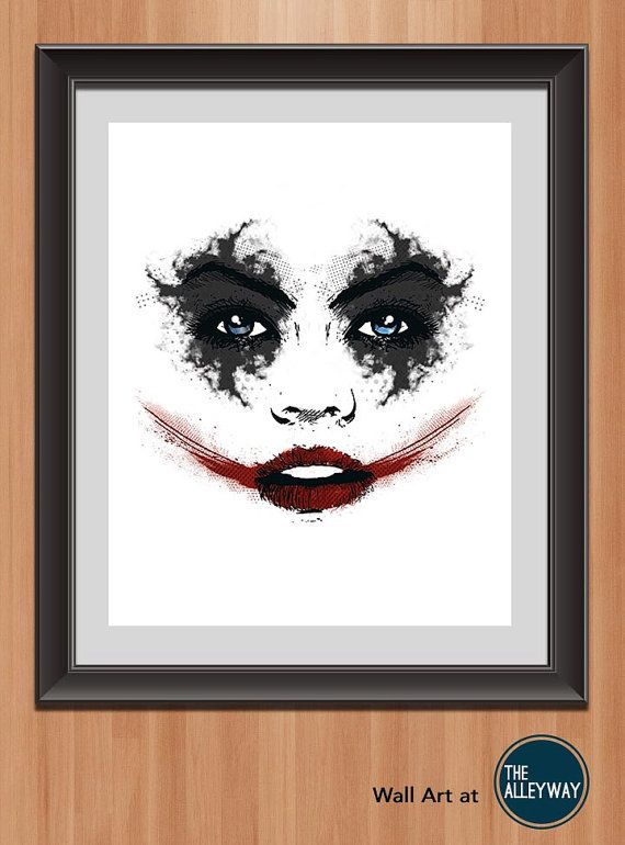 Harley QuinnAbstract Poster Printable by AlleywayMarketplace