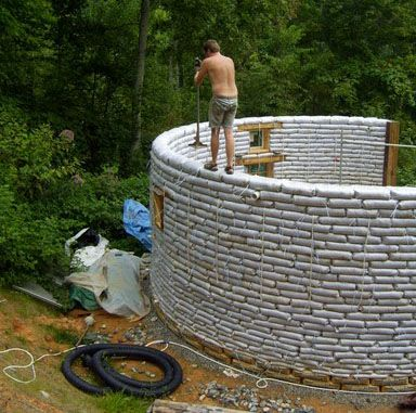 Earthbag round house - I want to build one!