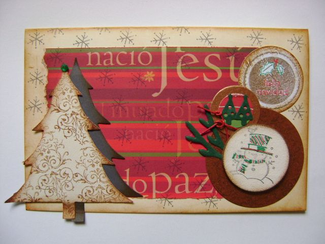 tarjetas de navidad en vintage y scrap hechas a mano diseos marta correa blog