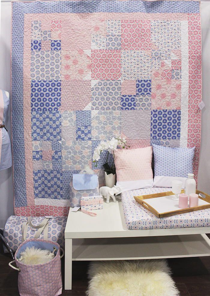 Pink Rose Quartz Butterfly Quilt | Get pretty in pink with this free quilt pattern!