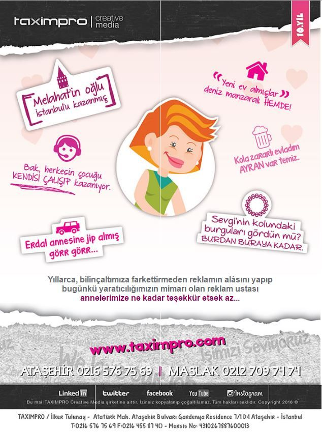 Anneler Günü Mailing imiz :)   annelergünü, kreatif, taximpro, reklam, ajans, ataşehir, istanbul, pazarlama, web, mailing