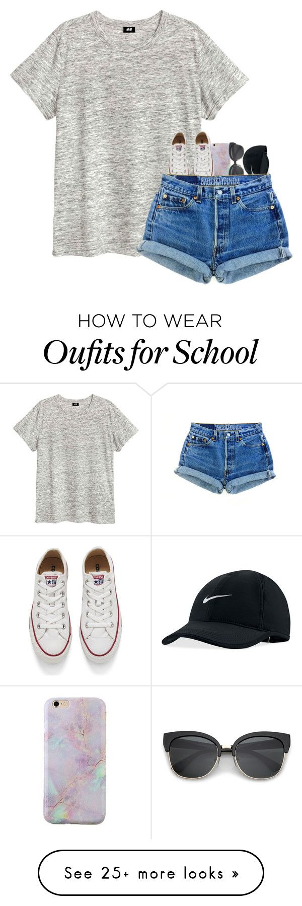 """c'mon be active for more posts :)"" by ellerlou on Polyvore featuring NIKE and Converse"