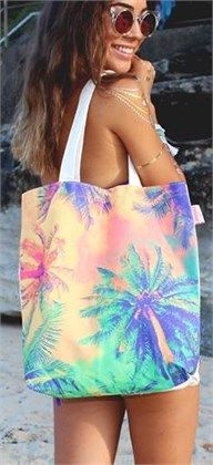 PALM DAYS TOTE by Dreams in Colour