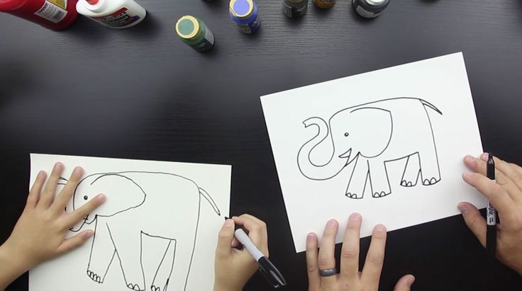 How to draw an elephant for kids is super fun and really easy. Watch the short video, and download the free printable.