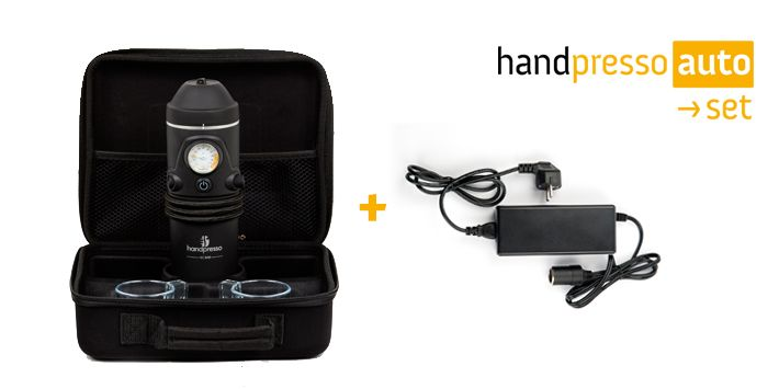 Mobile Expresso Machine Handpresso Auto set and power adapter 1