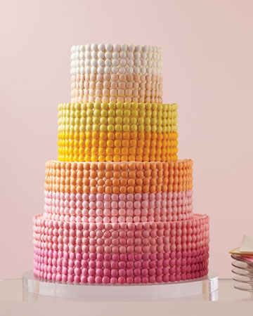 Deceptively simple cake using M #pastel #gradient #ombre