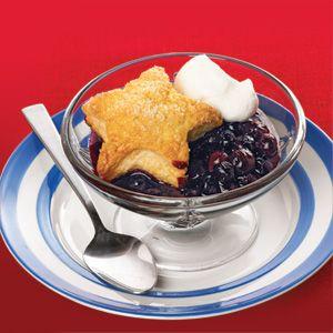 Star-Struck Blueberry Cobbler