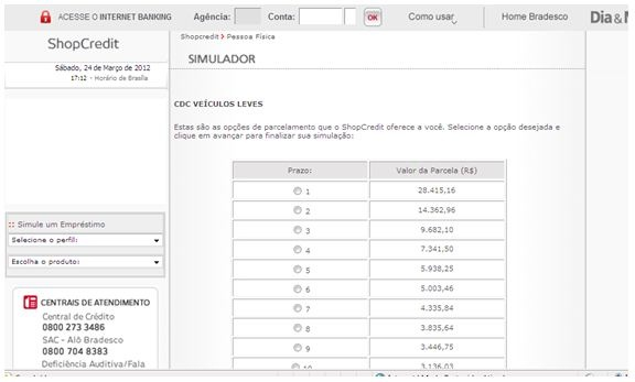 Aprenda Como Usar o Simulador Online de Financiamentos e Empr\u00e9stimos do Banco Finasa\n   BancoNet