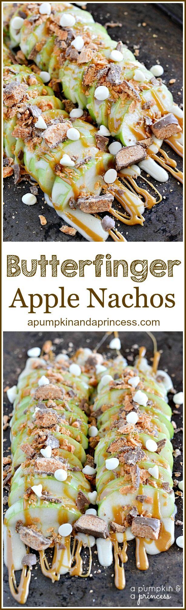 Butterfinger Apple Nachos - A Pumpkin And A Princess