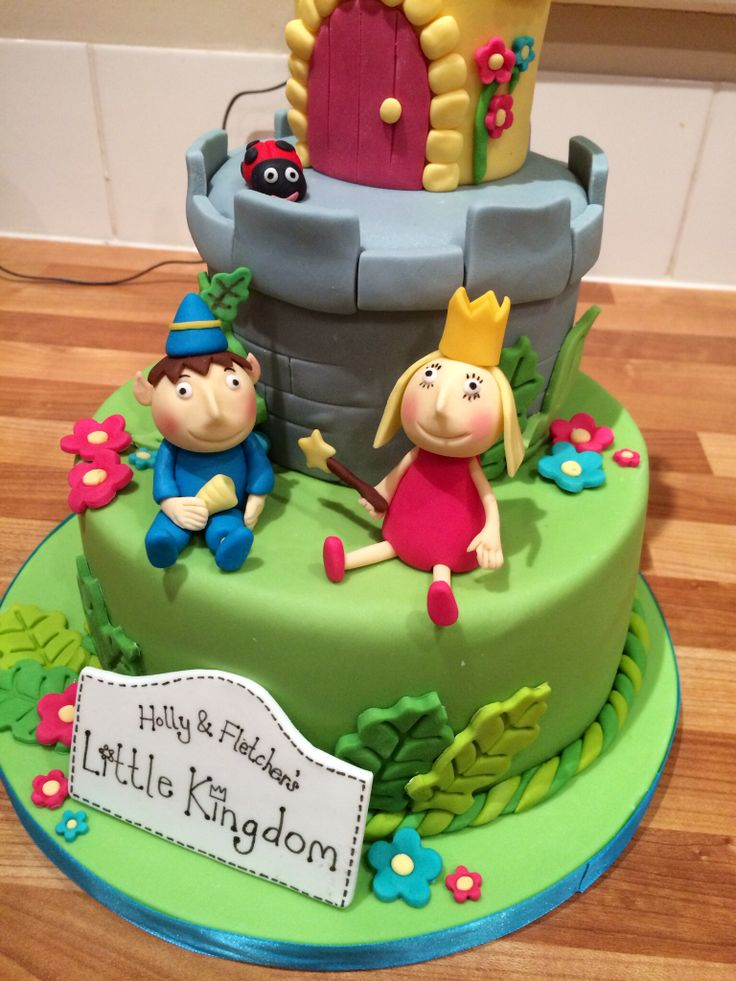 Ben and holly cake toppers
