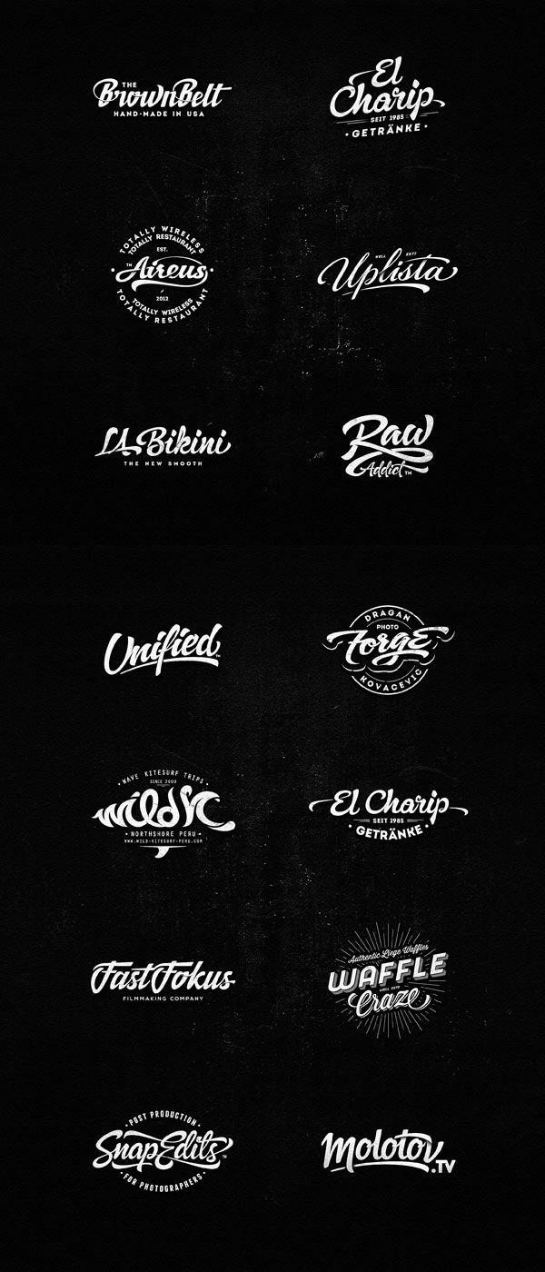 "Les logos ""hand made"" magnifiques de Dalibor Momcilovic."