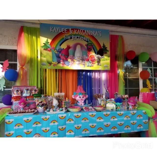 Trolls Candy Table Trolls Pinterest Trolls Birthday