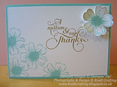 Simple card for card classes and workshops. Flower Shop and Million to One Stamp sets