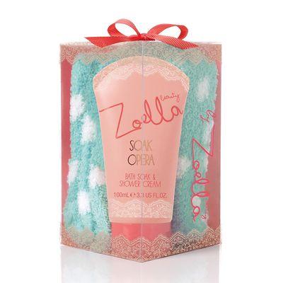 Zoella Beauty Cosy Toesy Bath Soak & Shower Cream with Cosy Socks