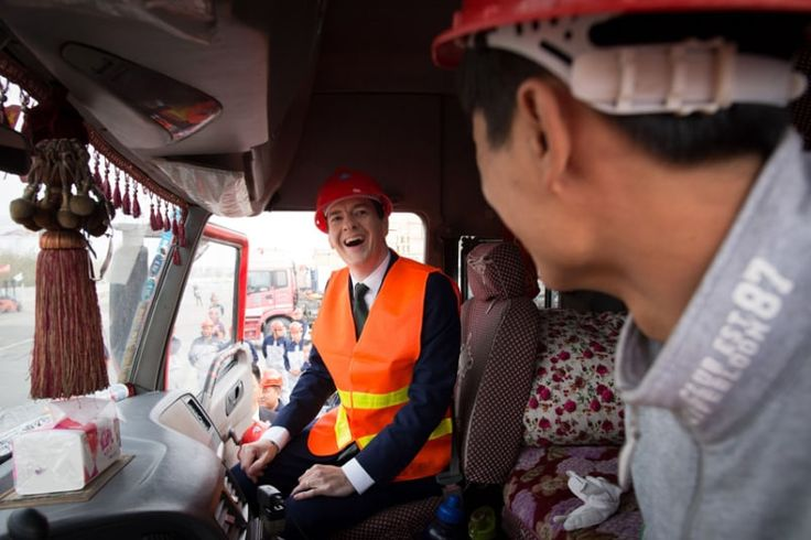 Chancellor of the Exchequer George Osborne visits an industrial area in the city of Urumqi in north west China, after he became the first serving government minister to travel to Xinjiang province.