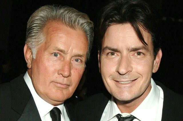 Martin Sheen & his son, Charley Sheen.