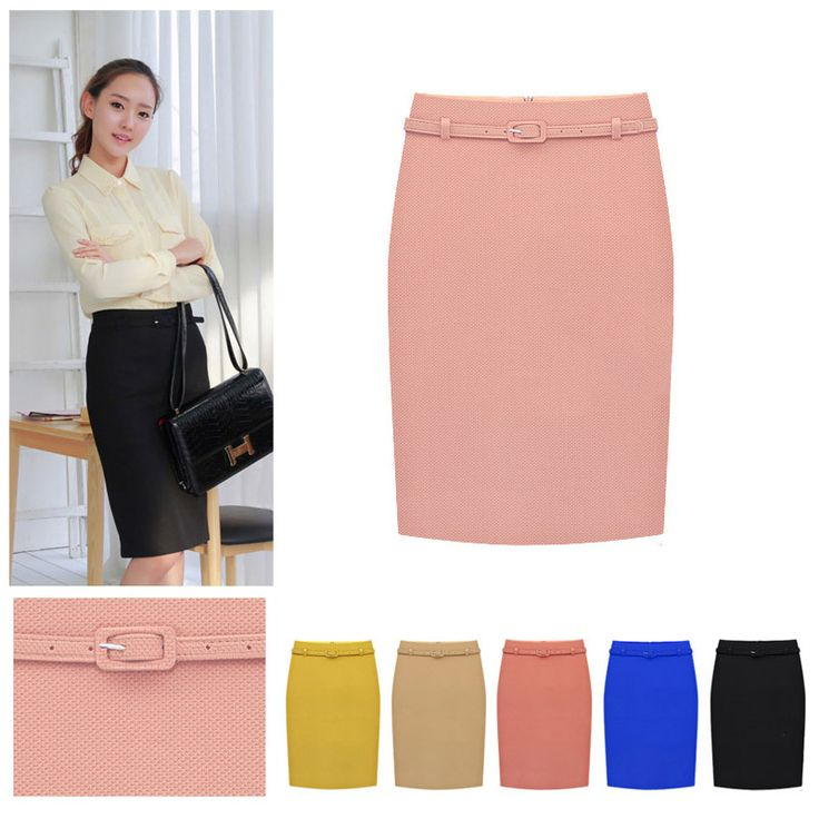 2014 Brand New Spring & Autumn Women's Professional Solid High Waist Knee Length OL Slim Pencil Skirt Plus Size With Belt - http://www.freshinstyle.com/products/2014-brand-new-spring-autumn-womens-professional-solid-high-waist-knee-length-ol-slim-pencil-skirt-plus-size-with-belt/