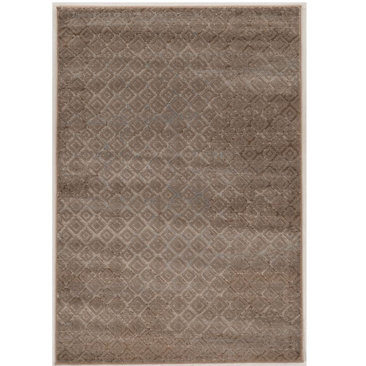 "Linon Power Loomed Jewel Collection Vintage Diamonds Polypropylene Rug (1'10"" X 2'10"") (Size), Beige, Size 2' x 3'"