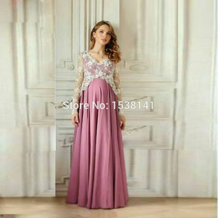Find More Evening Dresses Information about Lace Sleeves High Waist Pregnant Evening Dresses Elegant Appliques Chiffon Prom Dresses Long 2017 New Gorgeous Vestido De Curto,High Quality dress fabrics on line,China lace champagne dresses Suppliers, Cheap lace dress women from Lowime Wedding Dresses Factory on Aliexpress.com