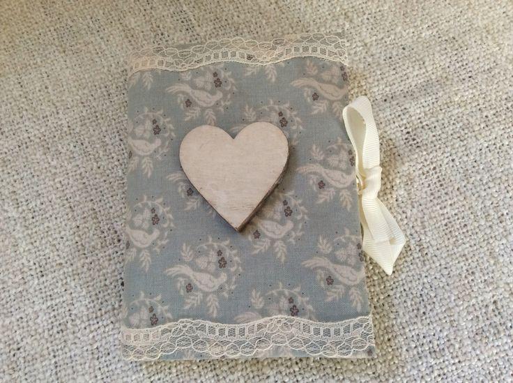 handmade shabby chic little romantic notebook