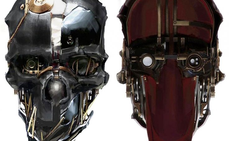 Corvo's Mask #ConceptArt from #Dishonored
