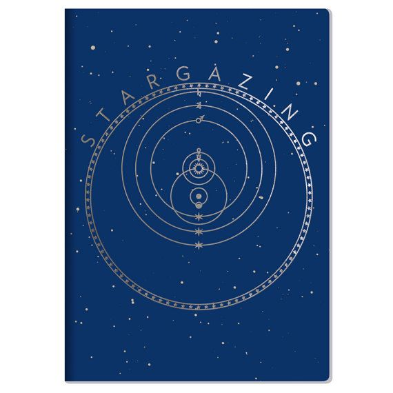 Night Sky notebook for stargazers and astronomers! Comes with constellation maps, a guide to the phases of the moon, a schedule of total lunar eclipses, and a handy tear-out simple astrolabe, so you can use it for star gazing at night or for making everyday notations of your days.