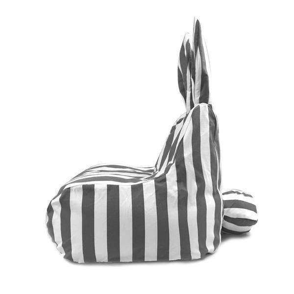 Rabito Small Bean Bag Limited Edition (Grey Stripes)