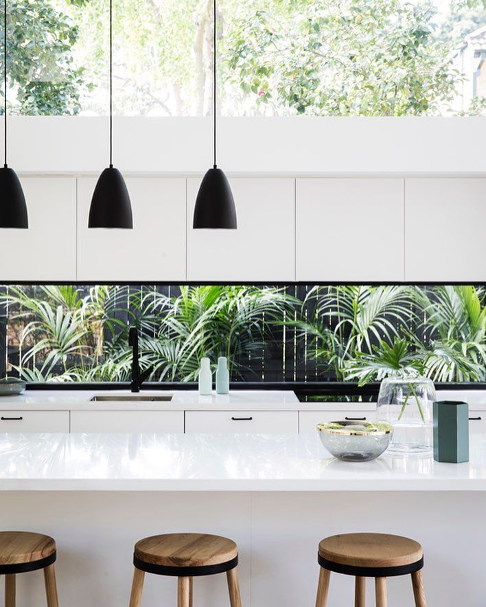 Allen Key House shortlisted for Houses magazine Awards 2017 Generous open plan spaces beautifully structured ceilings accentuate the flow of natural light and the contrast between Caesarstone Pure White surfaces polished concrete floors charcoal exterior & fresh white walls is absolute perfection Designed by @architectprineas   Built by @element_constructions   @chriswarnes