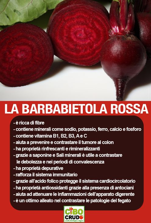 Proprietà barbabietola rossa