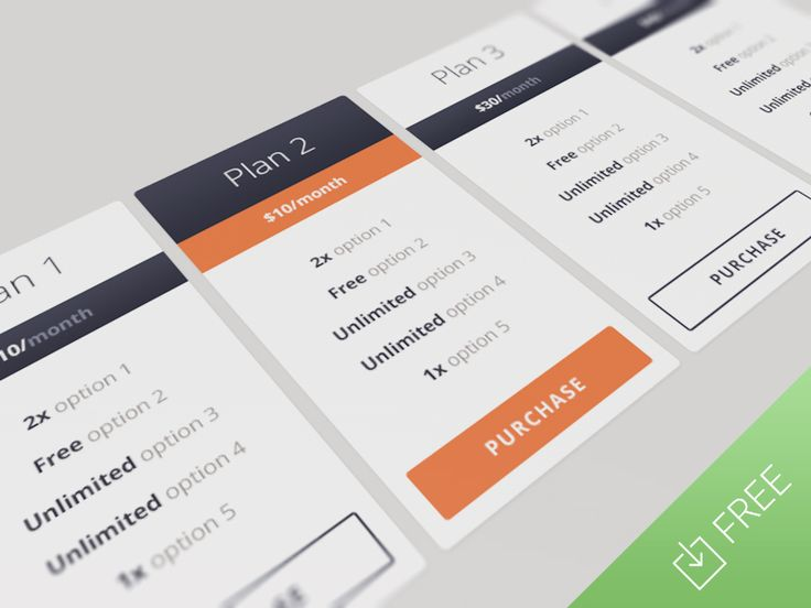 Responsive Pricing Table by Sebastiano Guerriero