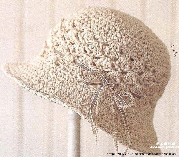 El sombrero de señora veraniego | tejidos | Pinterest | Tejido