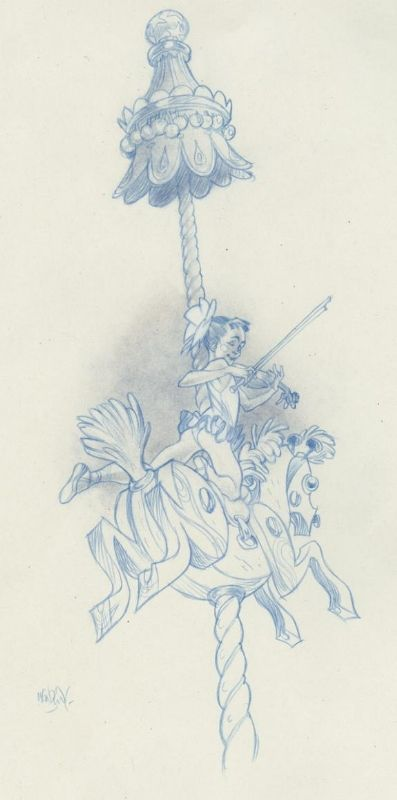 Claire Wendling - Daisies - color pencil, in Daniel Maghen's Claire Wendling Comic Art Gallery Room - 690256