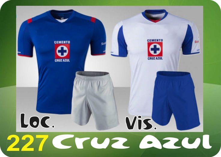 UNIFORME SOCCER DRI FIT. Mod. 227 CRUZ AZUL