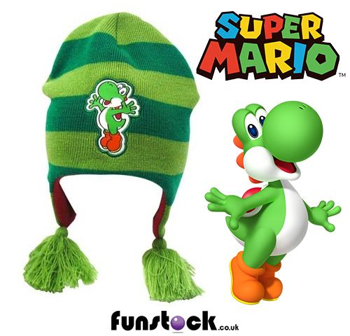 """Got any Yoshi fans in the family? This awesome Yoshi beanie hat will keep them happy. High quality material and an adorable design.  http://www.funstock.co.uk/nintendo-super-mario-bros-yoshi-beanie-green  Use code """"PINFUN"""" for 5% off!  #retrogaming #yoshi #gaming #supermario #xmas #christmas #giftidea #kids #beanie"""