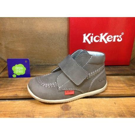 Botas Kickers Bilou Gris - Depasheo - Tu tienda de calzado On-Line