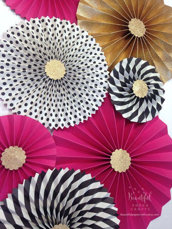Hete roze zwart en goud Glitter Roze en door BeautifulPaperCrafts