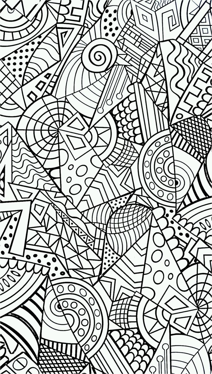 Coloring pages for restaurants - Abstract Colouring Book Geometric Design Coloring Page