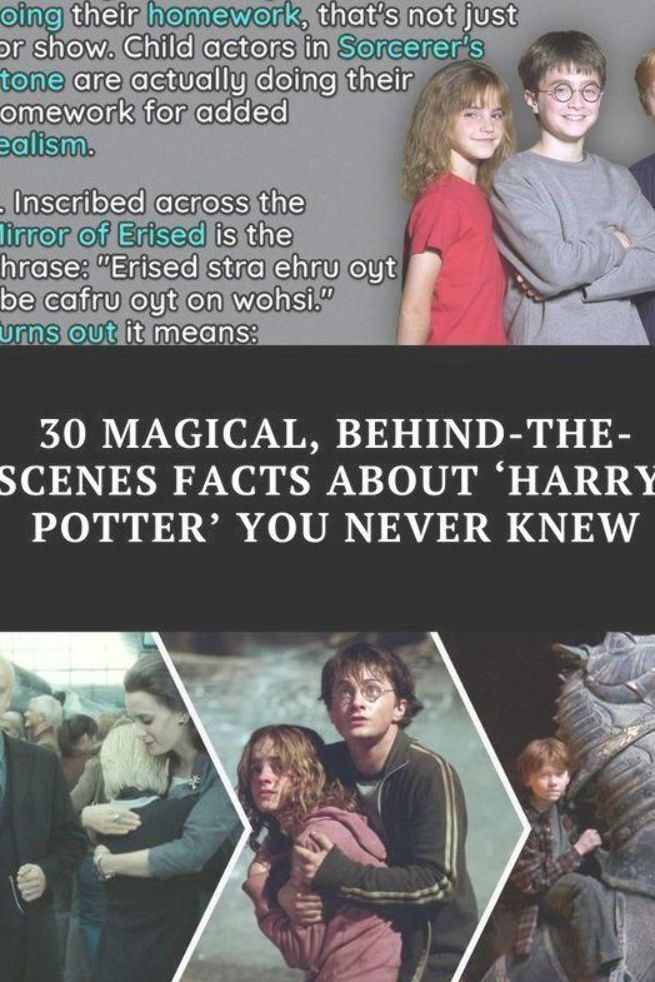 The Harry Potter Film Franchise May Have Wrapped Up Back In 2011 But Plenty Of Easter Eggs And Little Known Facts Harry Potter Film Child Actors Entertaining
