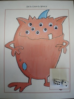roll the dice and add that many wiggle eyes to their monstersMath Center, Work Stations, Kindergarten Math, Math Ideas, Wiggle Eye, Monsters Addition, Monsters Math, Bremer Kindergarten, Math Work