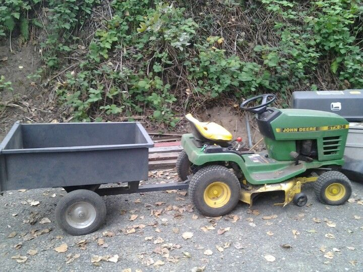 Loving The Riding Lawn Mower And A Wagon Home