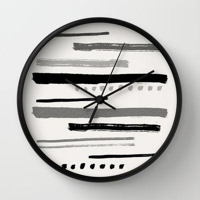 http://society6.com/product/minimal-collection-01_wall-clock?curator=vivigonzalezart #minimal #minimalism #decor