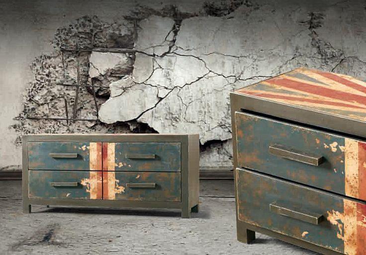 Muebles QUADRATURA arquitectos:  Mueble TV Beagle - Muebles de Tv Vintage - Muebles Vintage