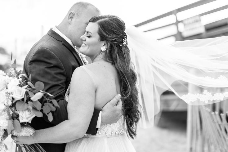 Coastyle Weddings & Events | Outer Banks, NC | Wedding Planning | Outer Banks Wedding | Bride and Groom | Beach Wedding | Veil | Flower Girls OBX | Amanda Hedgepeth Photography
