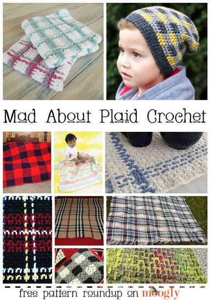 10 Free Plaid Crochet Patterns! ✿⊱╮Teresa Restegui http://www.pinterest.com/teretegui/✿⊱╮