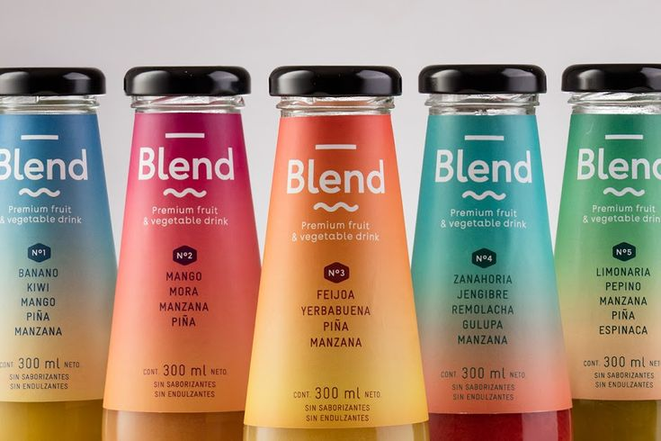Blend - Premium Fruit & Vegetable Drink on Packaging of the World - Creative Package Design Gallery