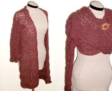Reliquary Arts: Corrupting the Common Craft: RIPPLE WRAP CARDIGAN- CROCHET PATTERN