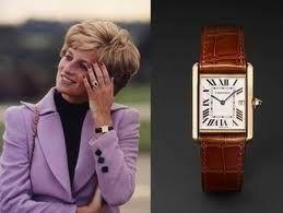 Princess Diana 's favorite Cartier line should be the Cartier Tank Louis leather watch .